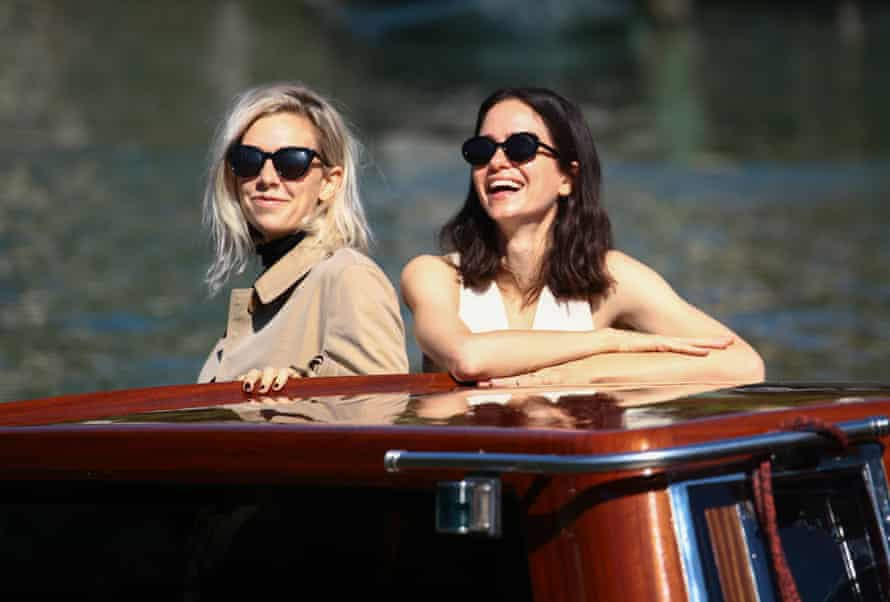 Vanessa Kirby and Katherine Waterston in Venice for the city's film festival in September 2020