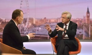 David Davis, right, made the comments on BBC's Andrew Marr Show.