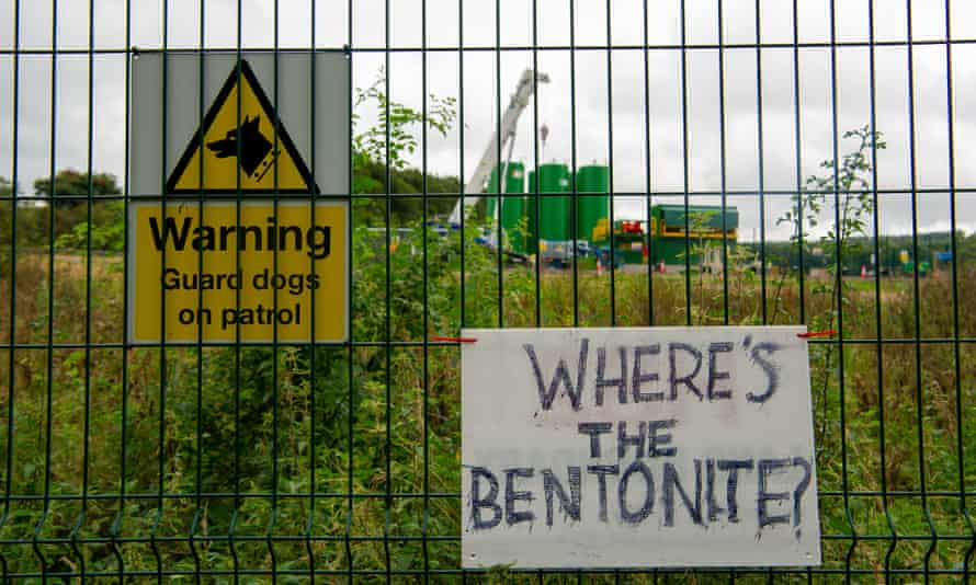 Banners made by Stop HS2 protesters are seen on the fences of Road Barn Farm, now owned by HS2.