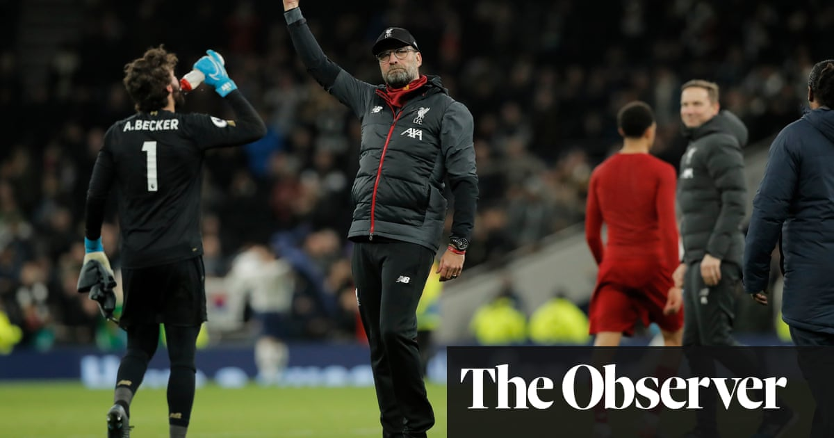 Jürgen Klopp unmoved by Liverpool's points record after win at Tottenham