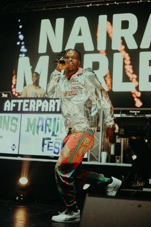 Do the shaku shaku … Marley performing live at Brixton Academy.