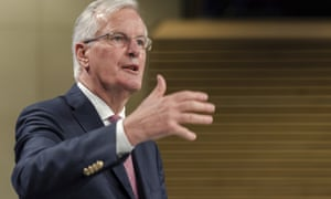 The EU's chief Brexit negotiator, Michel Barnier, set for renewed talks in Brussels.