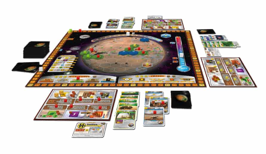 terraforming mars board game laid out as if on a table top