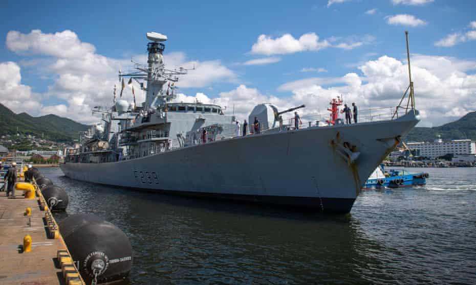 HMS Richmond seen in Japan last month
