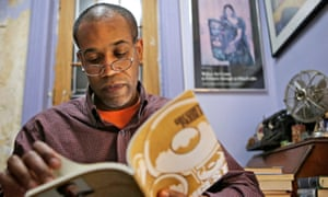 Gregory Pardlo, winner of the 2015 Pulitzer Prize for poetry, thumbs through Digest, his book of poems that won the award.