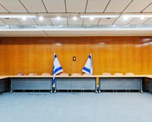 Israel, Jerusalem, Hochsicherheits-Konferenzraum Knesset