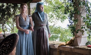 Diana Rigg as Olenna Tyrell with Natalie Dormer as Margaery Tyrell in Game of Thrones, 2013-17