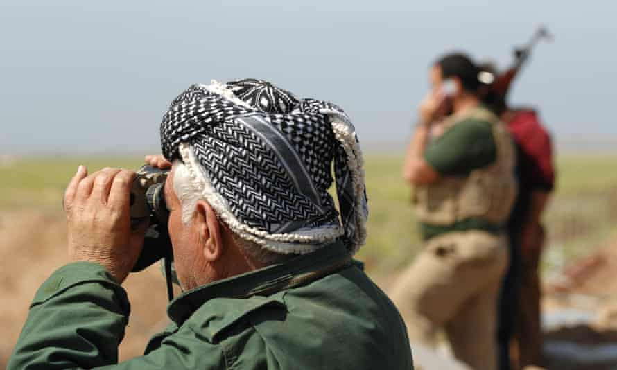 Peshmerga fighters on the frontline against Isis in Iraq.