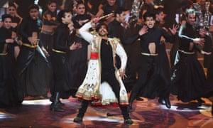 Ranveer Singh performs during the awards
