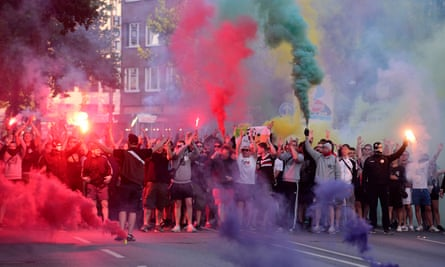 'A club that transcends sport' … the St Pauli anti-racist tournament march, May 2018.
