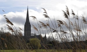 Salisbury cathedral, one year on from the novichok attack in the city.