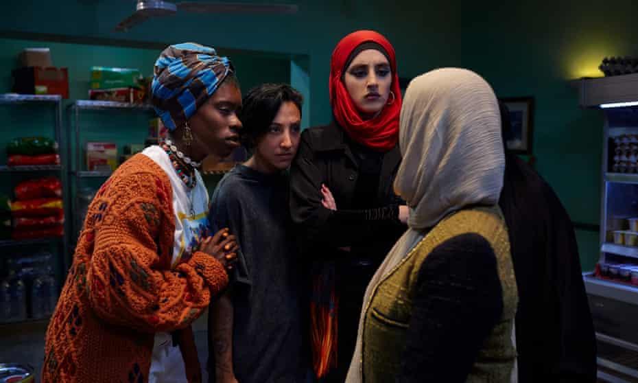 Lady Parts ... Faith Omole (Bisma), Sarah Kameela Impey (Saira), Juliette Motamed (Ayesha), Anjana Vasan (Amina) and Lucie Shorthouse (Momtaz).