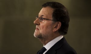 The acting conservative prime minister, Mariano Rajoy.