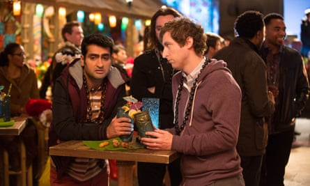 Kumail Nanjiani and Thomas Middleditch in Silicon Valley.