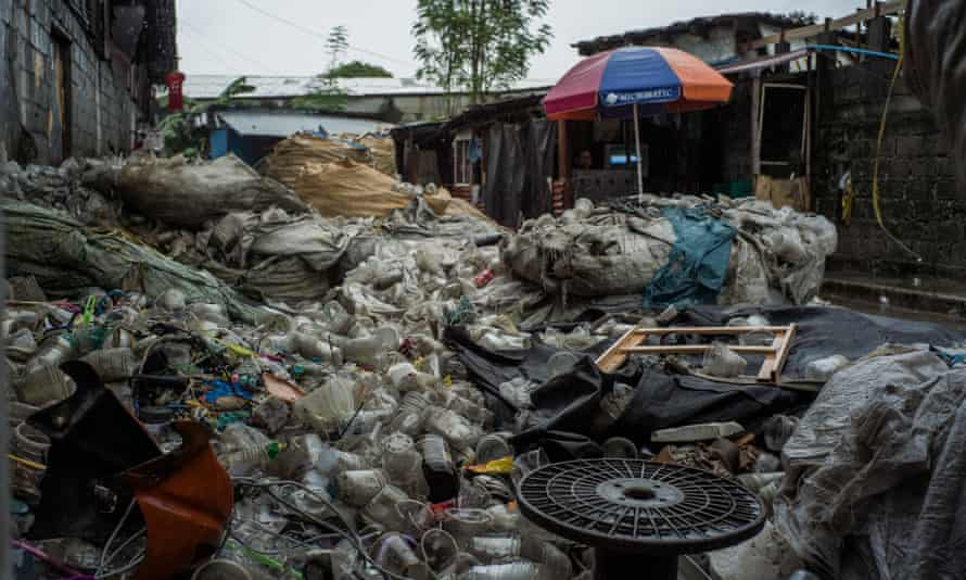 Canumay West village in Valenzuela City, has numerous recycling plants that deal with plastic waste produced domestically and imported from other countries.