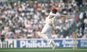 Gordon Greenidge of the West Indies hooks during the World Cup semi-final at the Oval In London.