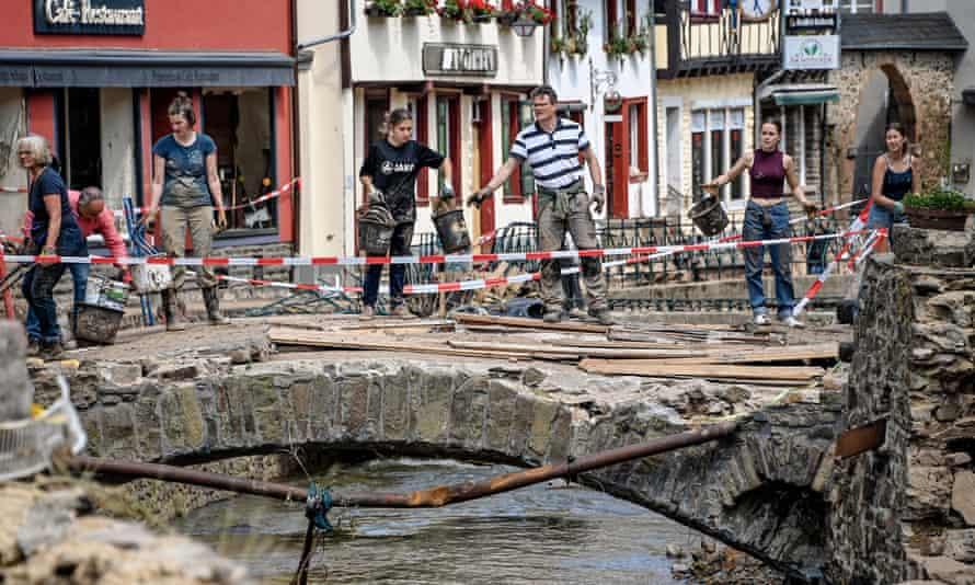Flooding in the German village of Bad Muenstereifel