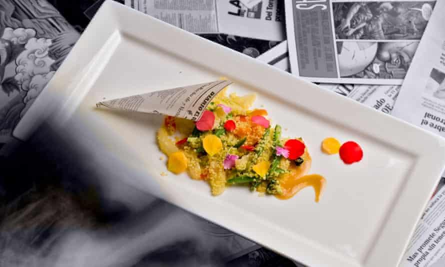 Edible paper dish