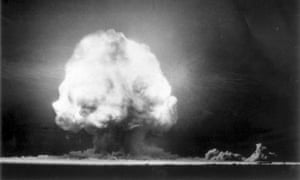 The first atomic bomb explodes during the 'Trinity' test in New Mexico.