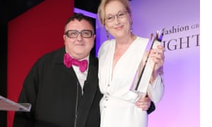 Alber Elbaz with Meryl Streep.