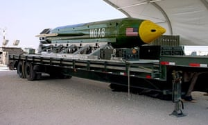 A MOAB - Massive Ordinance Air Blast, or 'mother of all bombs'.