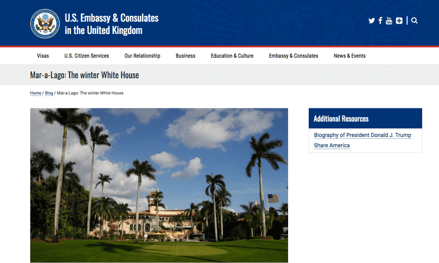 The US embassy's website.