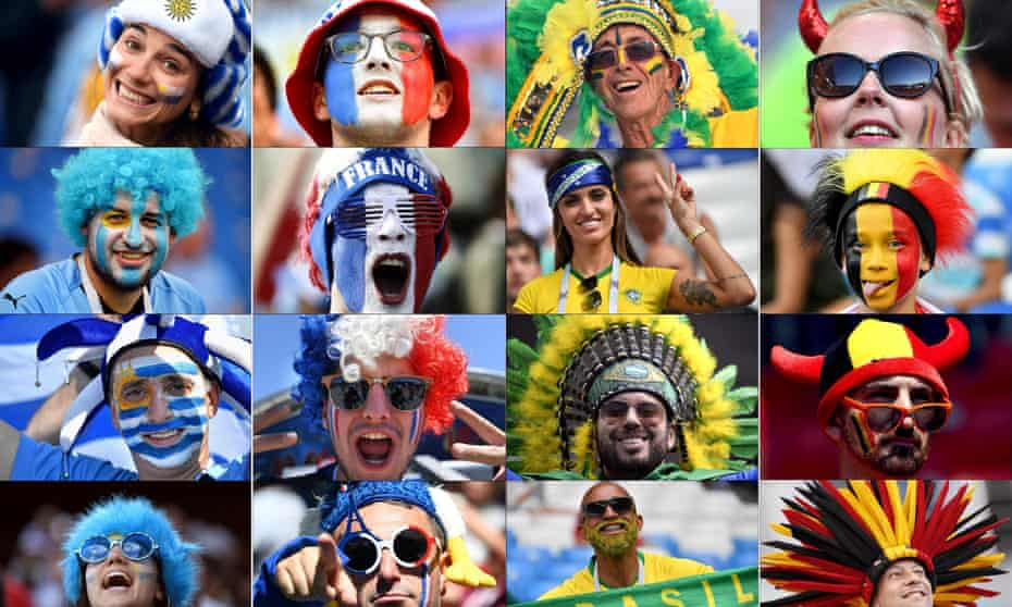 Fans enjoy the World Cup.