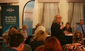 National Education Union holds a public meeting about Wakefield City Academies Trust, which collapsed last year.