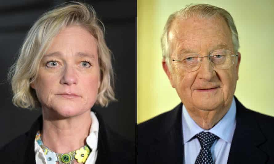 Belgian artist Delphine Boël and her father former King Albert II of Belgium.