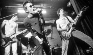 Glen Matlock, Johnny Rotten and Steve Jones of the Sex Pistols in 1977.