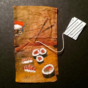 Ruby Silvious painted tea bags 363 days of tea