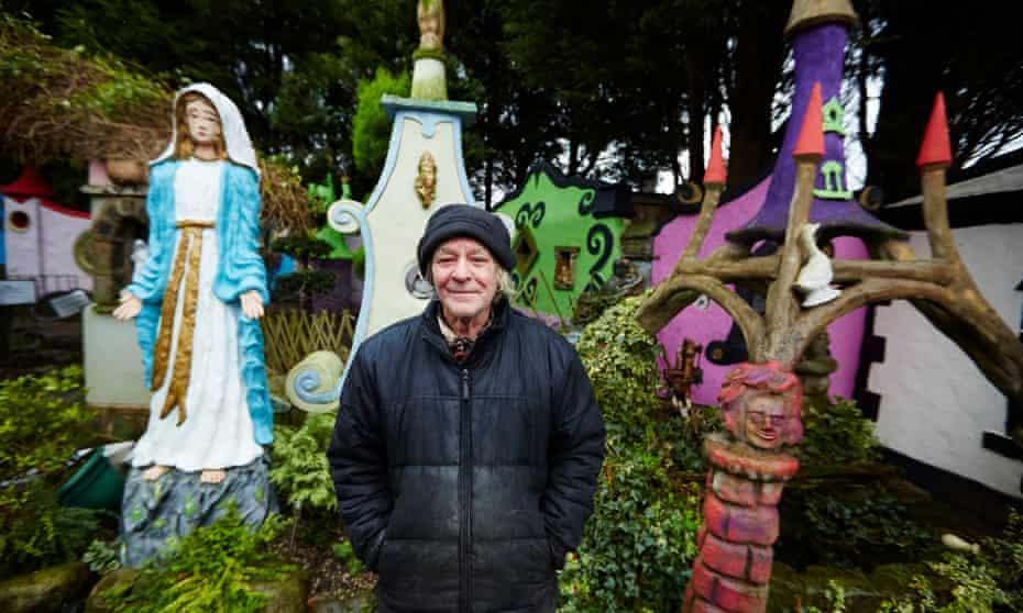 Kevin Duffy's fantasy tudor village at Rectory Nurseries in Wigan.