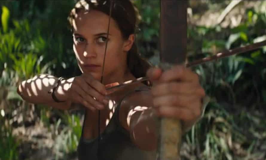 Alicia Vikander as Lara Croft in the forthcoming reboot Tomb Raider