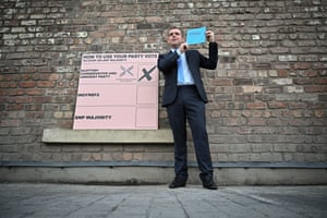 Douglas Ross, the Scottish Conservative leader, launching his party's manifesto at the Engine Works in Glasgow earlier today.
