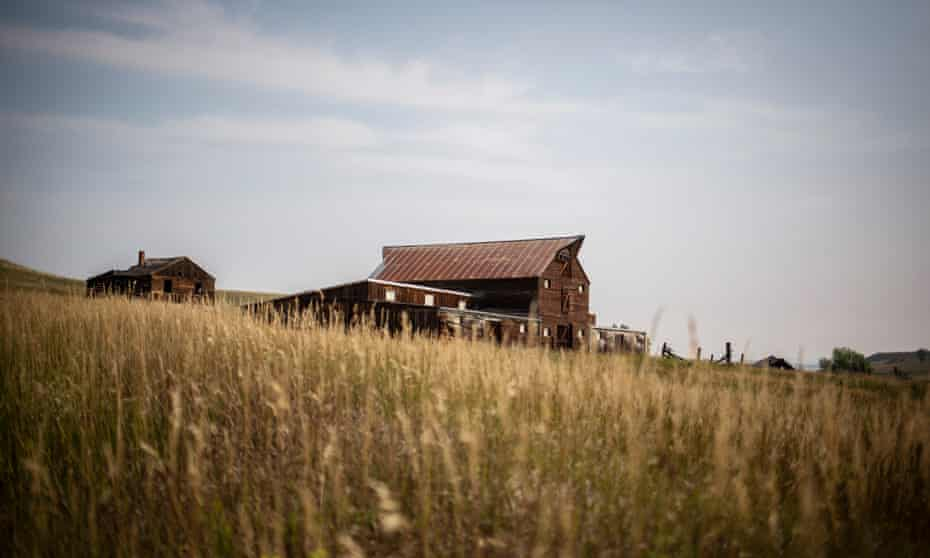A barn sits on the Rocky Flats National Wildlife refuge, just north of Denver, Colorado.