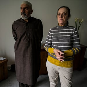Imatiaz Shaikh and his wife Christina at home