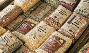 A selection of British-grown pulses.