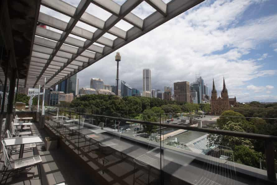 The view from the Australian Museum's new rooftop cafe.