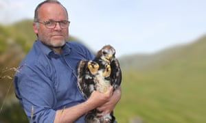 Andy Wightman MSP with Adam, the golden eagle he tagged last year.