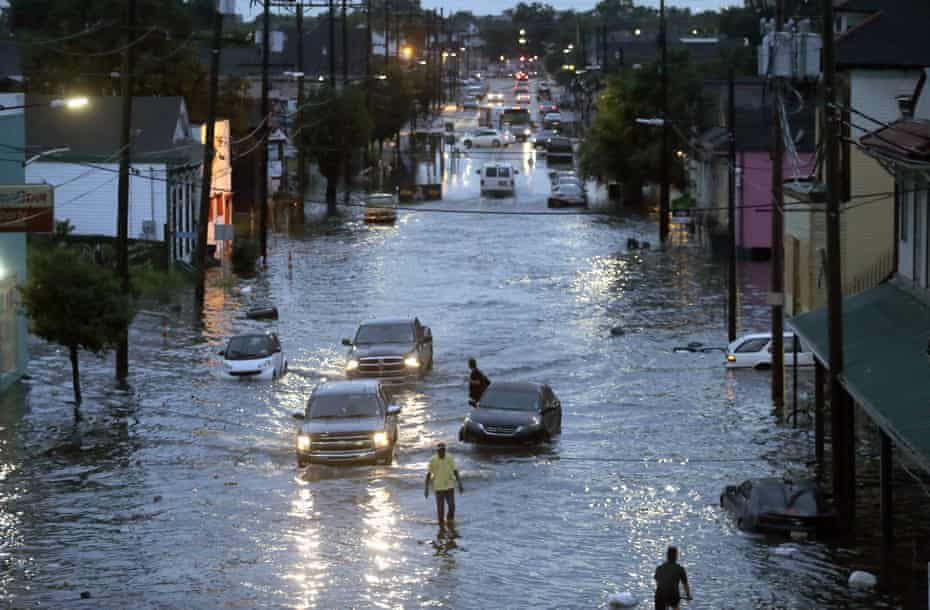 Flooding in New Orleans on 5 August.