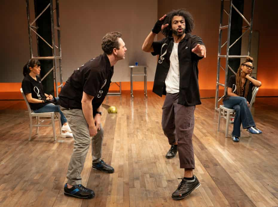 Zoe Winters, Thomas Sadoski, Daveed Diggs and Sheria Irving in White Noise