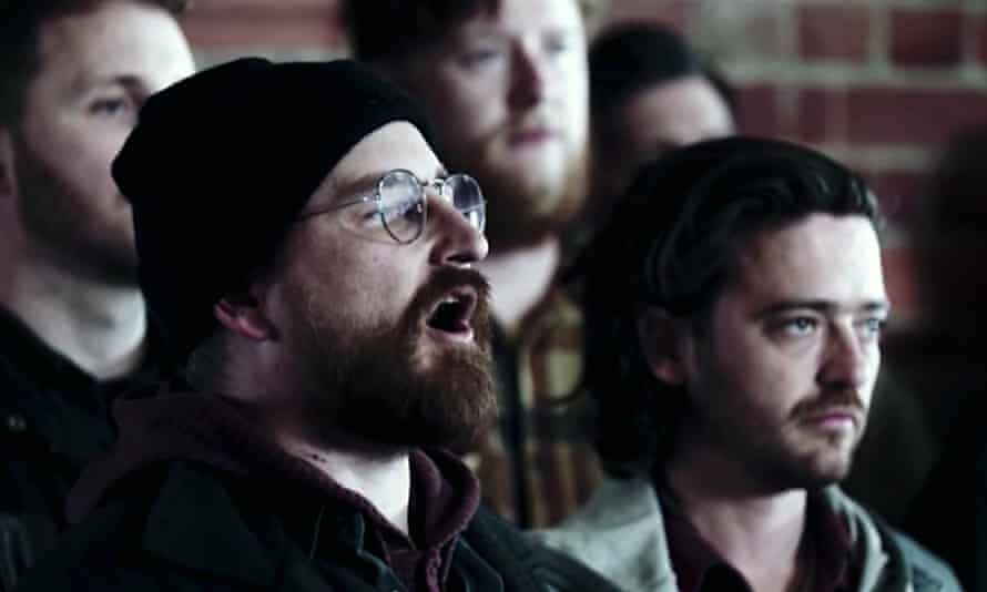 Screen grab from film clip: Cash Savage and the Last Drinks performed by The Good Citizens Choir