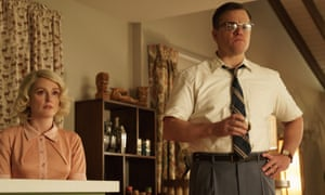 Domestic betrayal … Julianne Moore as Margaret and Matt Damon as Gardner in Suburbicon.
