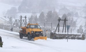 Roads are cleared in Nenthead, Cumbria, on Monday.