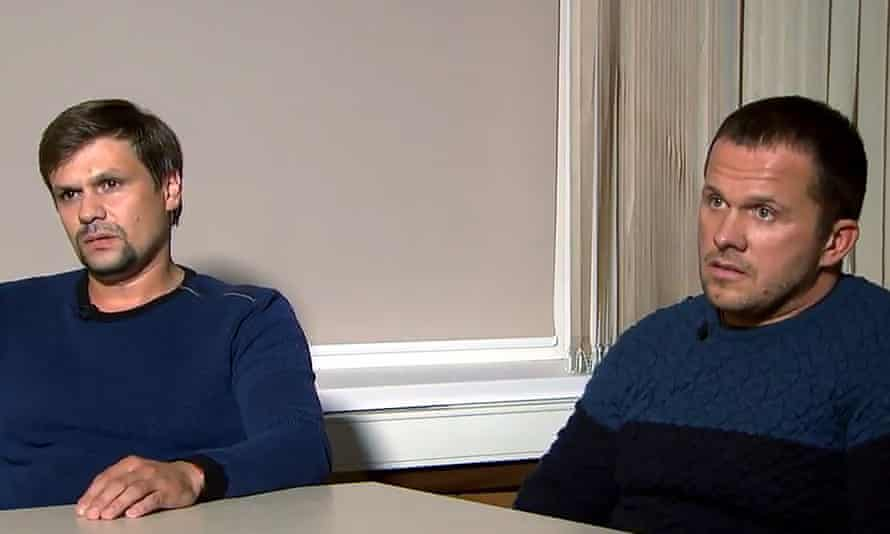 Salisbury attack suspects Ruslan Boshirov and Alexander Petrov.