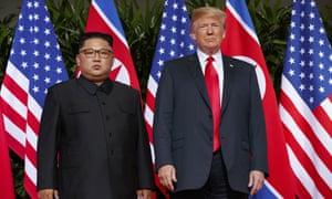 Trump with Kim last year.