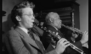 A young Bob Wilber with Sidney Bechet