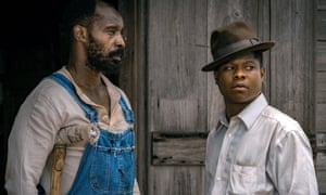 Rob Morgan and Jason Mitchell in Mudbound.