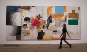 Ace, 1962 by Robert Rauschenberg – oil, paper, cardboard, fabric, wood and metal on canvas – at Tate Modern.