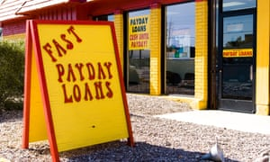 A sign for payday loans